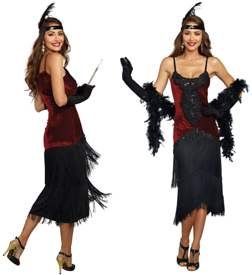 all couples groups gangsters flappers crazy for costumes