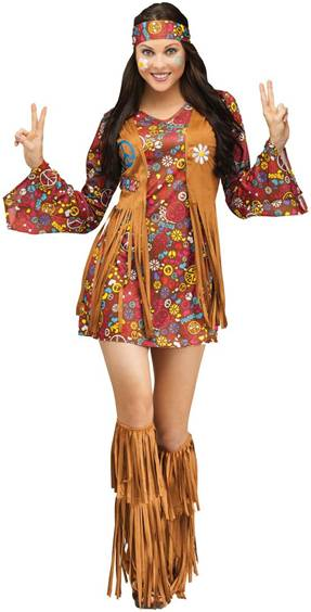 THE GROOVY PEACE AND LOVE HIPPIE COSTUME FOR WOMEN  sc 1 st  Crazy For Costumes/La Casa De Los Trucos (305) 858-5029 - Miami ... : groovy costumes  - Germanpascual.Com
