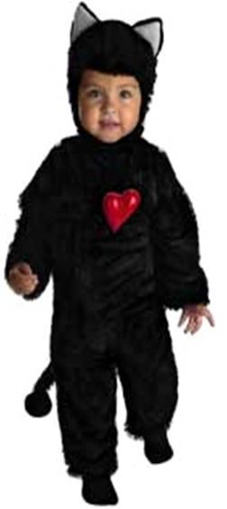 SW Girls Child Kid Costume Fancy Dress Black Kitty Cat Jumpsuit /&Ears 6 8 10