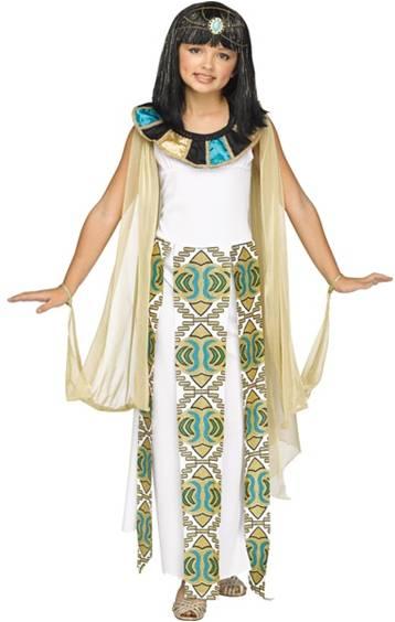 Girls Shimmer Cleopatra Halloween Costume Size Large Headdress Collar Cape