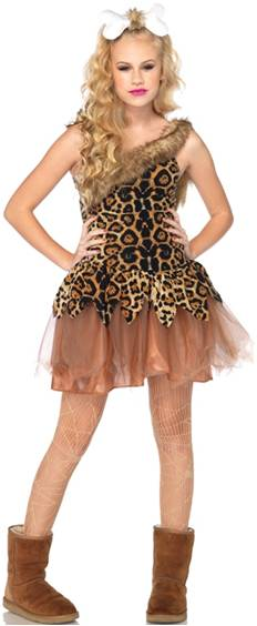 Thought differently, cave woman adult teen costumes
