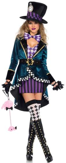 SEXY DELIGHTFUL MAD HATTER COSTUME FOR WOMEN Click For Larger Image