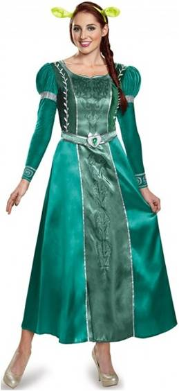 SHREK DELUXE FIONA MOVIE COSTUME FOR WOMEN Click For Larger Image