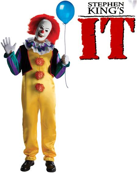 stephen kings it pennywise evil clown costume click for larger image